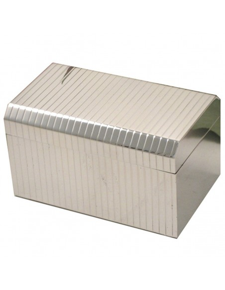 "Sterling silver Jewelry Box "" WideRowSharp"""