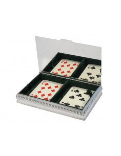 "Sterling silver playing card box ""Impero"""