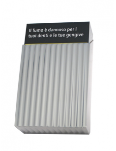 Silver cigarette's pack cover