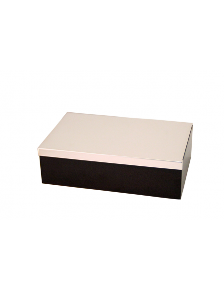 """Box sterling silver and wood """"Sliding"""""""
