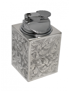 "Silver table lighter ""SimpleEngraving"""