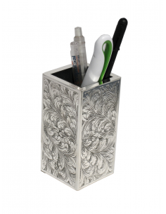 "Silver pen holder ""SimpleEngraved"""