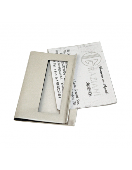 "Silver Card Holder "" CardClip"""