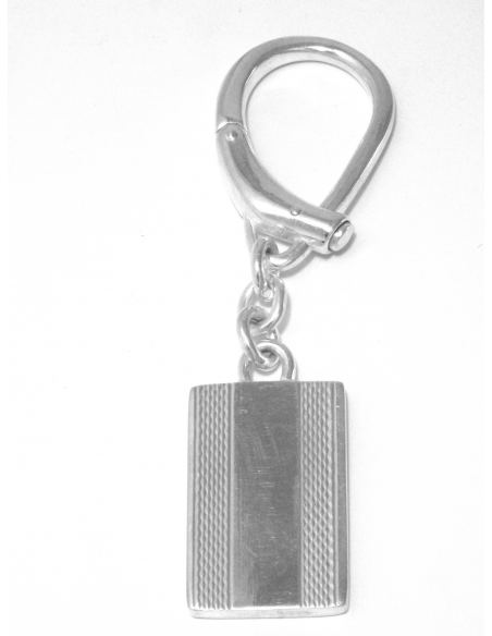 "Silver Keyrings ""Wavelets"""