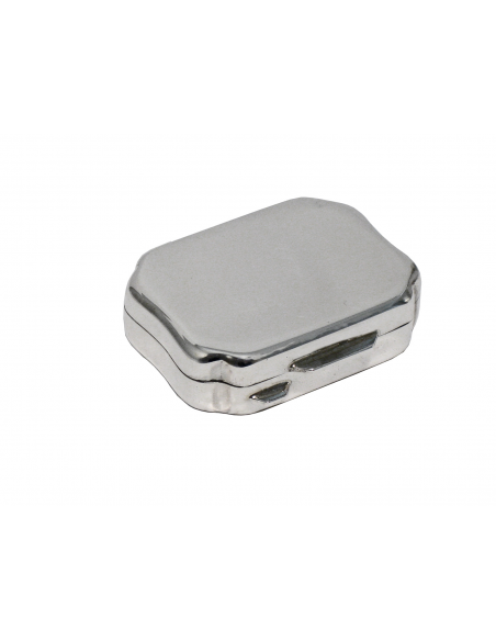 "Silver Pillbox ""Contoured"""