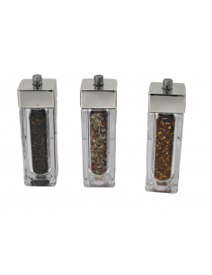 "Silver pepper mill ""AcrylicMill"""