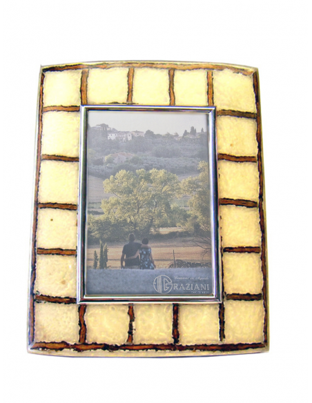 "Sterling silver frame ""Cocco Squares"""