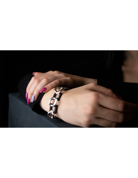 "Bracciale argento bicolore ""Bond of Affection"""