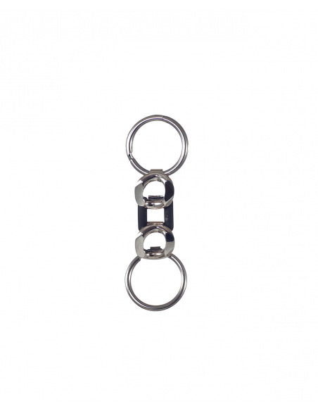 "Sterling silver keyrings two-tone ""Bond of Affection"""