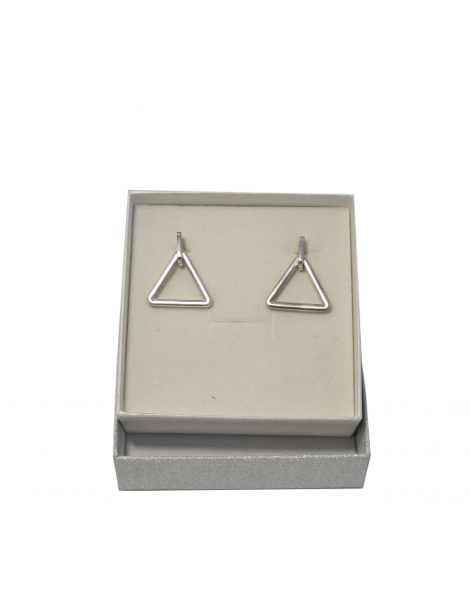 "Sterling silver earrings geometric shape "" Triangygon"""