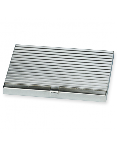 "Sterling silver business card holder ""Stripe"""